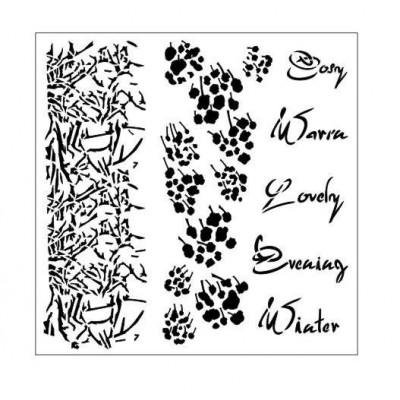 Cosy Evening stencil
