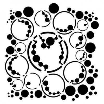 Bubbles stencil by Marta Lapkowska