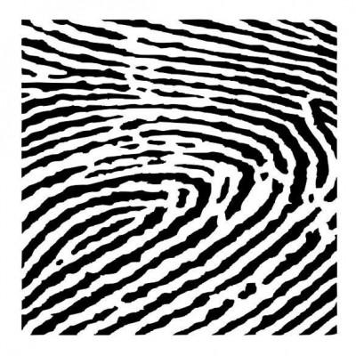 Finger print stencil