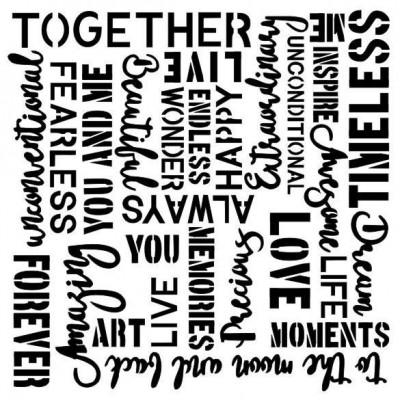 Vintage words stencil