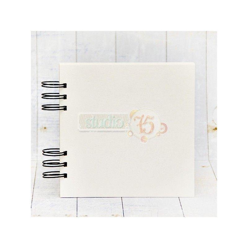 10 lapos chipboard album - 15x15 cm