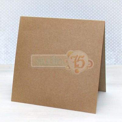 5 db kraft képeslap kártya - 15x15 cm