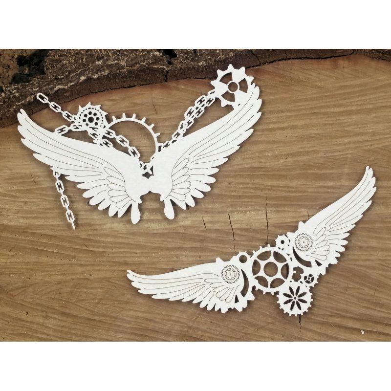 Steampunk-Flying hearts - kis láncos szárnyak