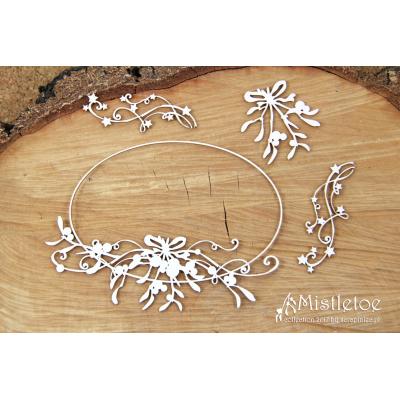 Mistletoe - nagy ovális keret