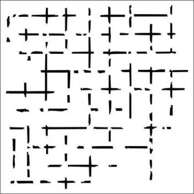 Tattered Grid stencil