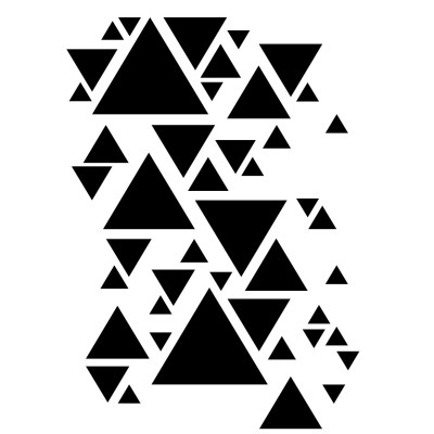 Triangles stencil