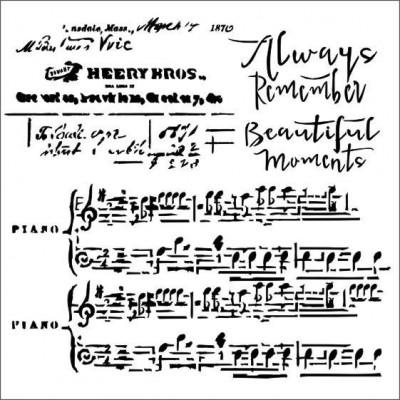 Always the Music stencil