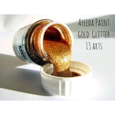 Ayeeda Csillámos Festék - Arany