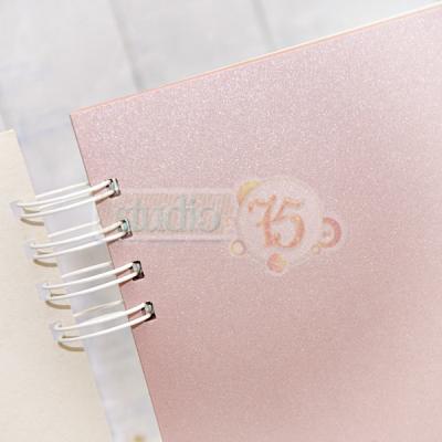 10 lapos album pink lapokkal - 20x20 cm