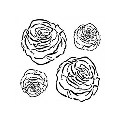Roses stencil