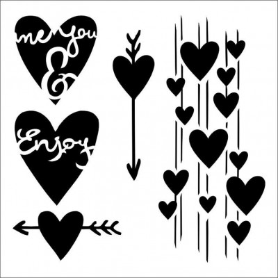Me & You stencil