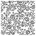 Swirls stencil