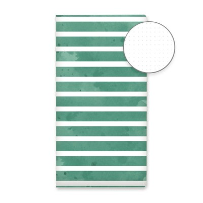Green stripes - pöttyözött journal