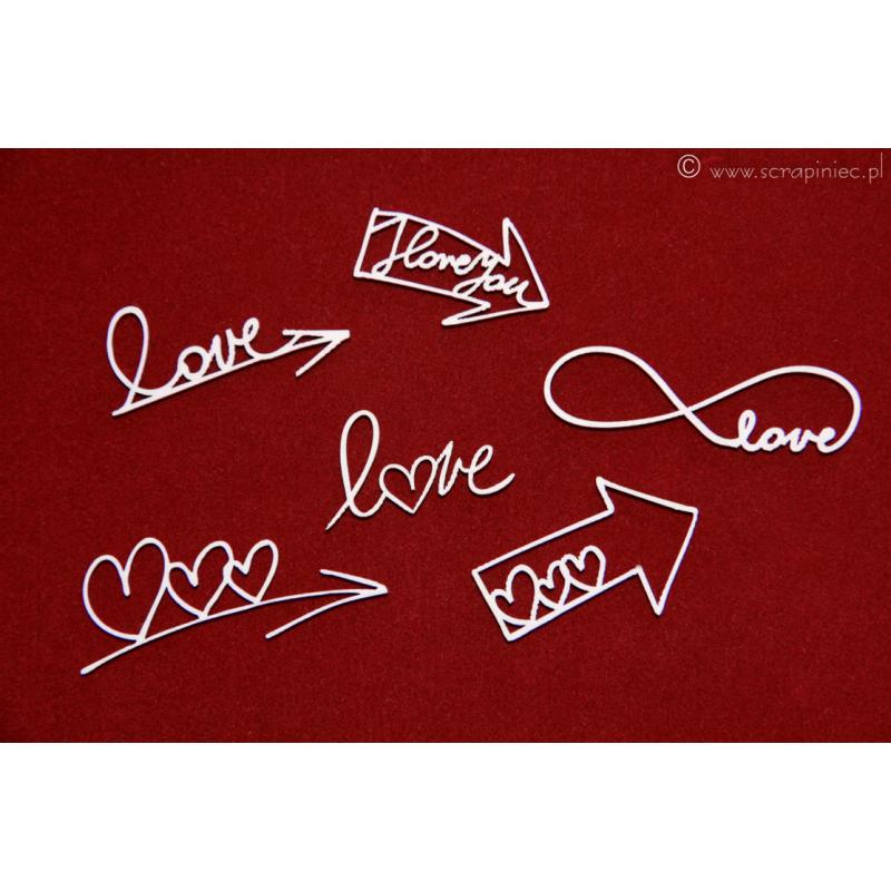 Ecsetvonásos szerelmes nyilak