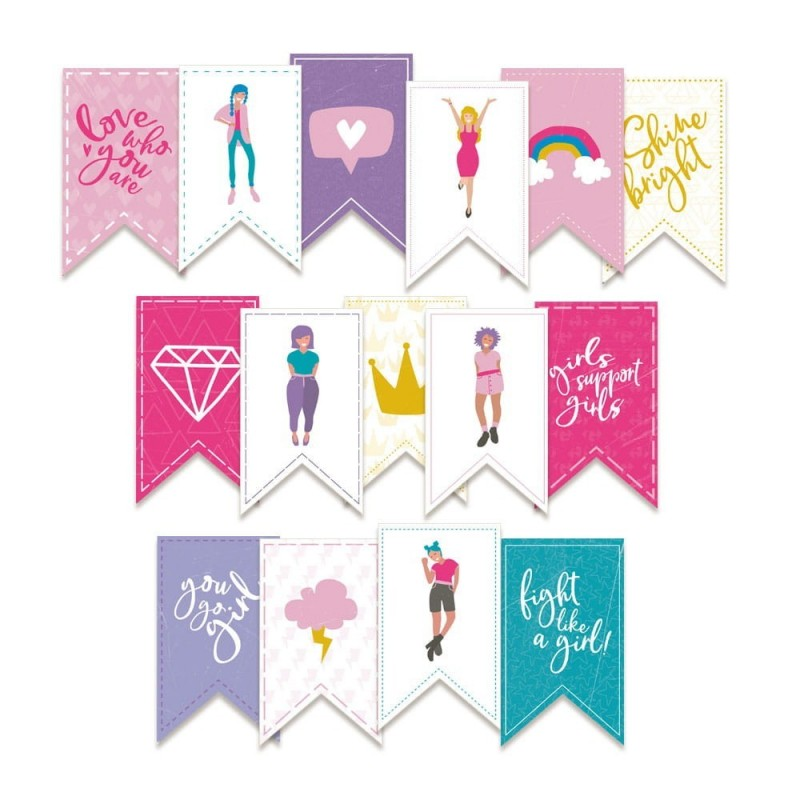 Girl Gang zászló girland