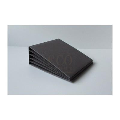 Szürke 3D album vászon borítással - 16x16 cm, 6 lapos