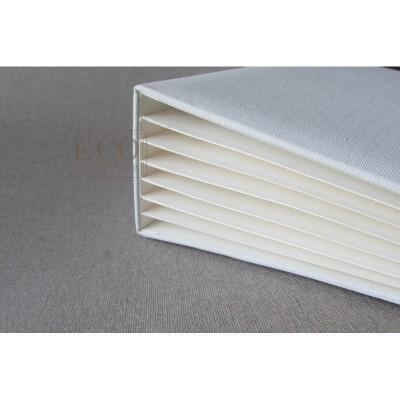 Krém 3D album vászon borítással  - 22x16 cm, 6 lapos