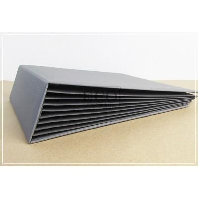 Szürke 3D album vászon borítással - 25x25 cm, 8 lapos