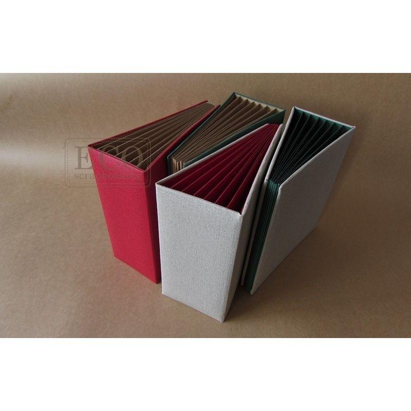 Piros 3D album vászon borítással - 13x18 cm, 6 lapos