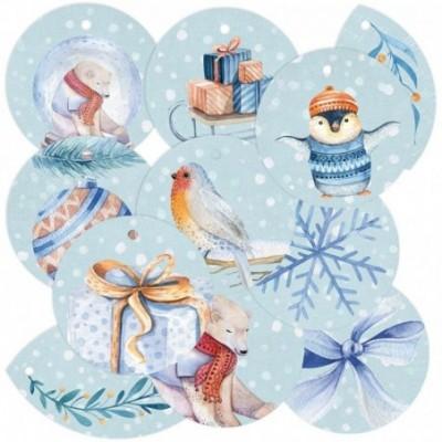 North Pole dekorációs címke 01
