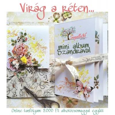 Virág a réten - ONLINE mini album tanfolyam ALKOTÓCSOMAGGAL