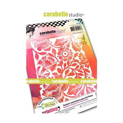 Carabelle Art Printing textúra lemez Gel Press laphoz - Fleurs et Feuilles(A6)