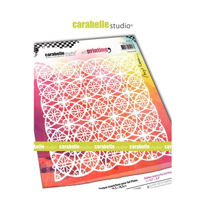 Carabelle Art Printing textúra lemez Gel Press laphoz - Flower Grid