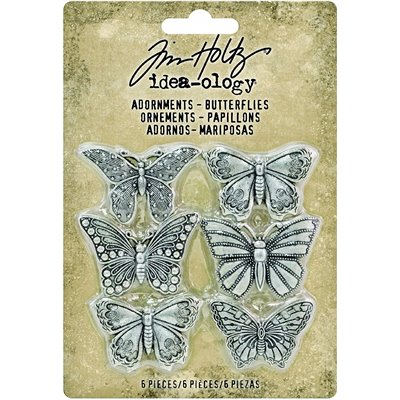 Tim Holtz Idea-ology Adornments Butterflies (6 db)