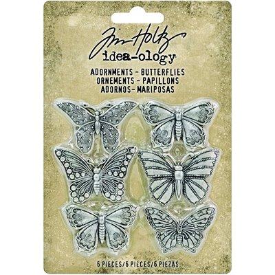 Tim Holtz Idea-ology Adornments Butterflies (6 db)