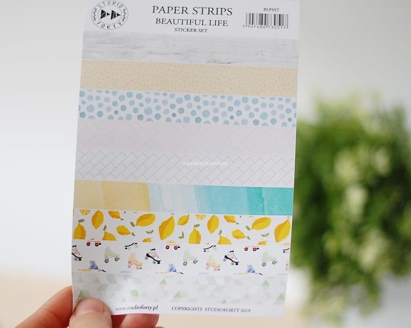 Beautiful life - papír csíkok - matrica szett
