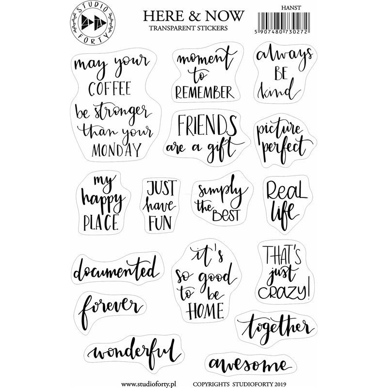 Here and Now - fólia matrica