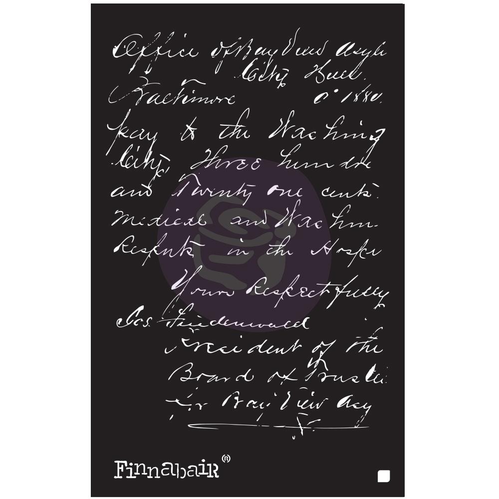 Finnabair - Elementals Stencil - Read My Letter