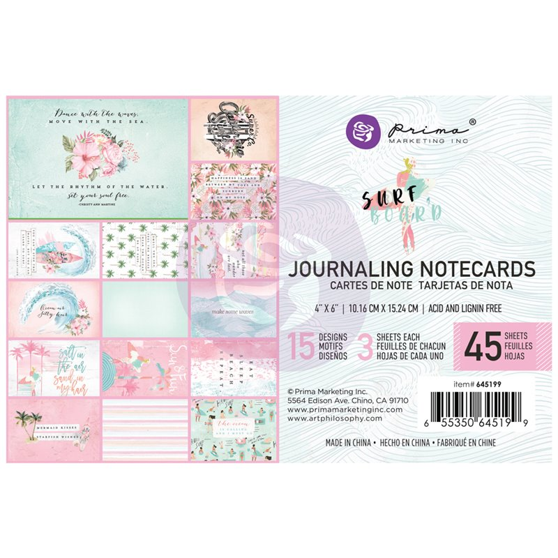 Surfboard kollekció 4x6 Journaling Cards