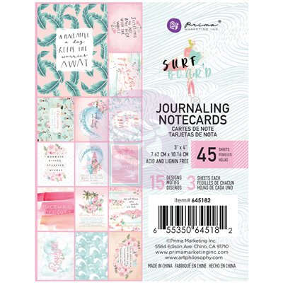 Surfboard kollekció 3x4 Journaling Cards