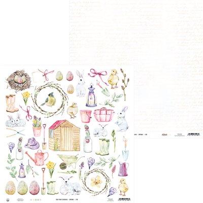 "The Four Seasons - Spring kivágóív 02 12x12"""