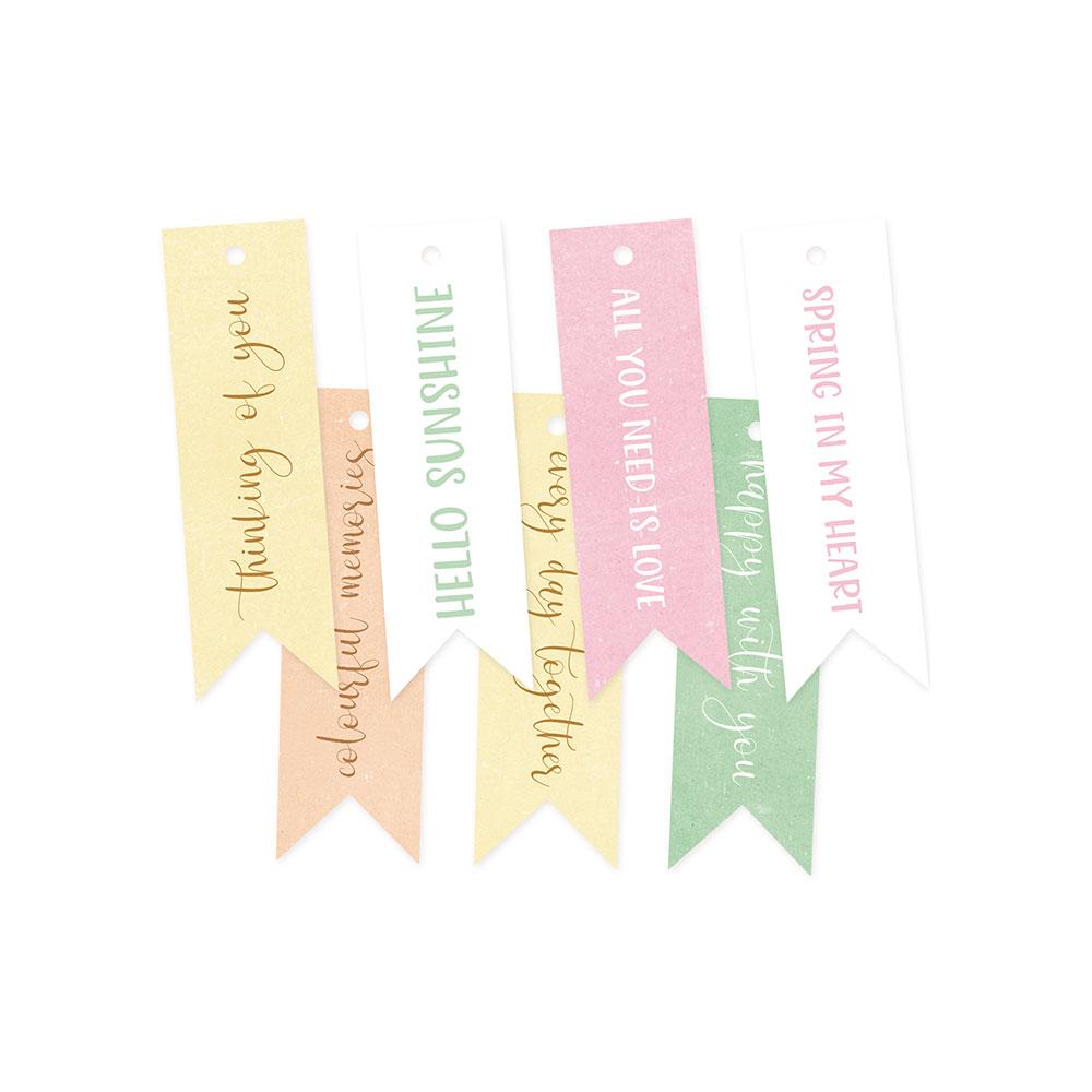 The Four Seasons - Spring - dekorációs címkék 02 - 7 db