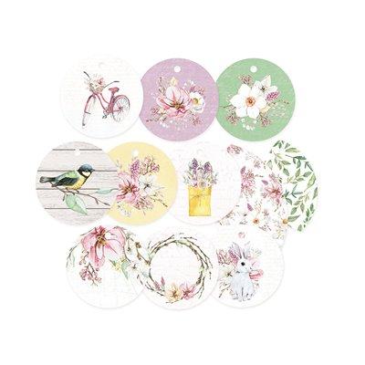 The Four Seasons - Spring - dekorációs címkék 01 - 11 db