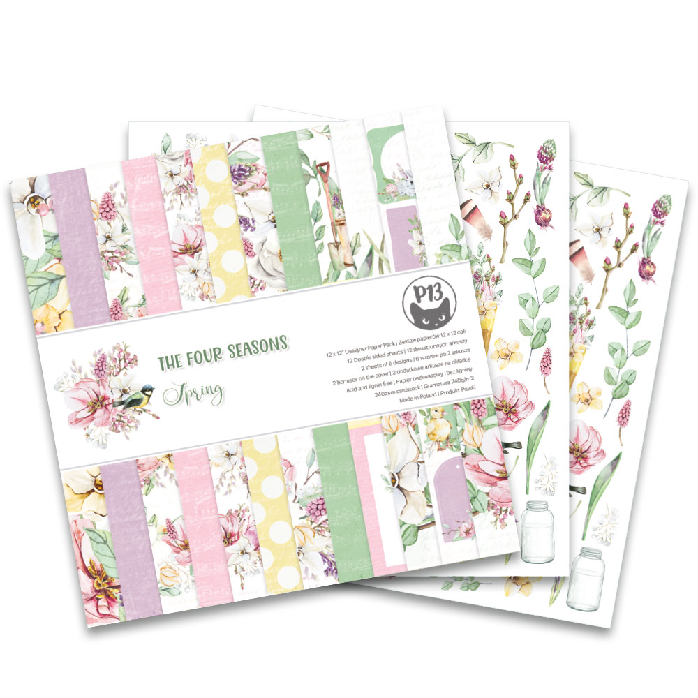 """The Four Seasons - Spring - 12""""-es mini kollekció (6 db 2 oldalas papír + 1 db kivágóív)"""