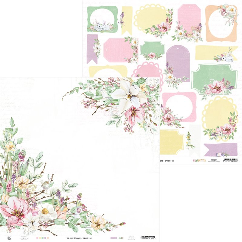 "The Four Seasons - Spring kivágóív tagek 12x12"""