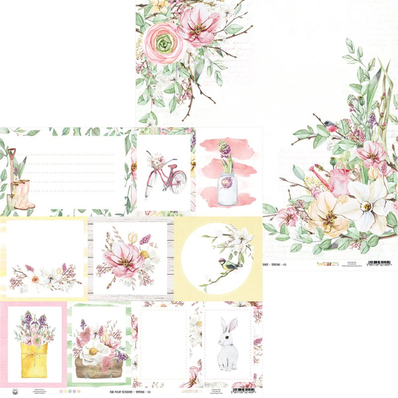"The Four Seasons - Spring kivágóív képeslap 12x12"""