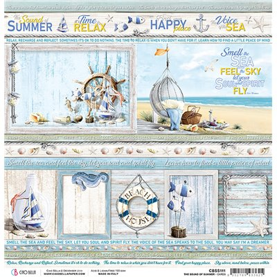 "Summer Cards 12""-es papír"