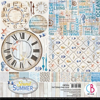 "Sound of Summer Pattern Pad 12""x12"""
