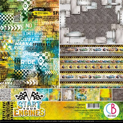 "Start your Engines Patterns Pad 12""x12"""