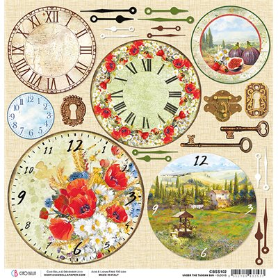 "Tuscan Clocks 12""-es papír"