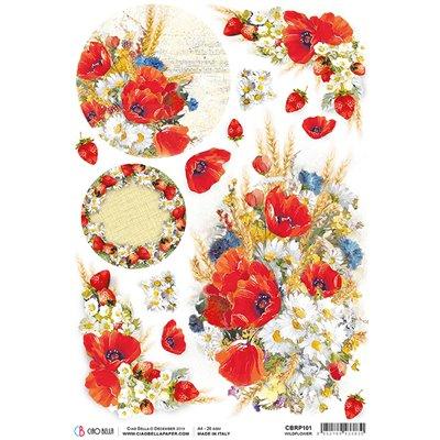 Rizspapír A4 - Wildflower