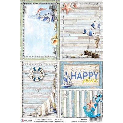 Rizspapír A4 - Summer Cards