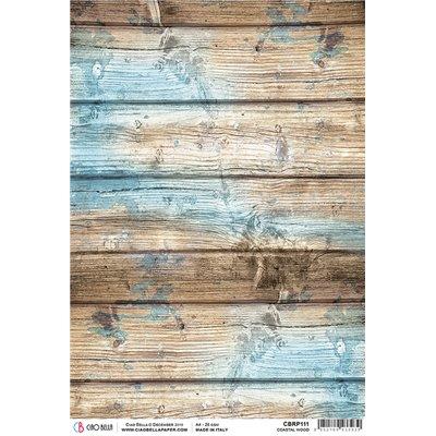 Rizspapír A4 - Coastal Wood