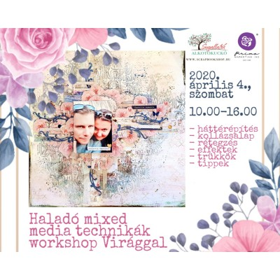 Haladó mixed media technikák workshop