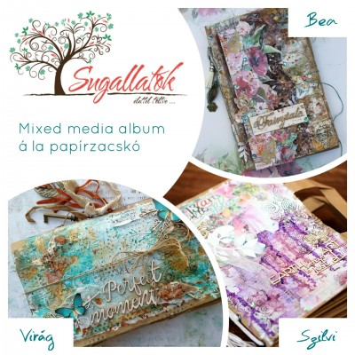 Online workshop - Mixed media papír zacskó album