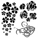 Winter Flowers stencil